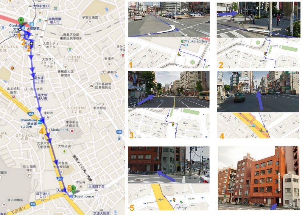 Gokokuji guesthouse map